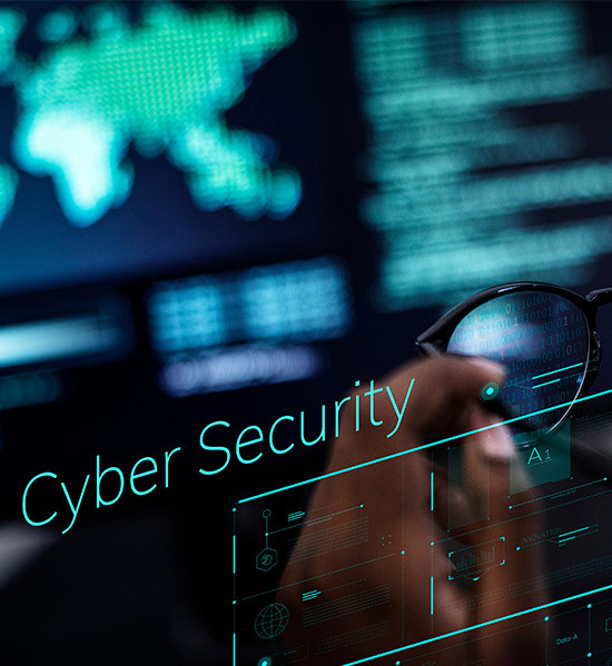 Cyber security element with map in background